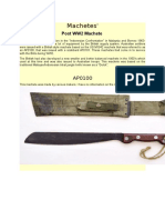 Australian Machetes Post War