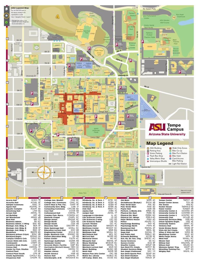asu map tempe current arizona state university sports