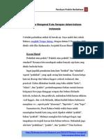 Belajar Mengenal Kata Serapan Dalam Bahasa Indonesia