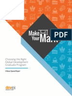 DEVEX Graduate School Guide -- Make Your Mark_web