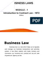 Business Laws(RTU) - Module 1