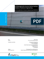 Identifying and Managing the Success Factors behind the implementation of Systems Engineering
