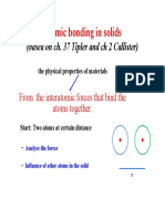 Lecture 4 Atomic Bonding