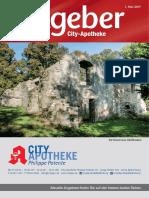 Ratgeber aus Ihrer City-Apotheke – Mai 2017