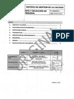 Pr-rh-01-Gral Procedimiento Reclutamiento y Selección Ver 00
