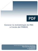 Conocer Metodologia PMI PMBOK