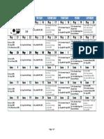 WFAA Free Workout Calendar