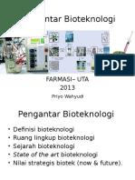 Lect 1 Pengantar Biotek