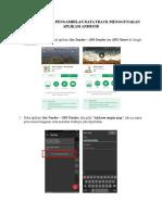 Langkah Kerja Pengambilan Data Track Menggunakan Aplikasi Android