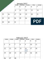 SBF Calendar 2017