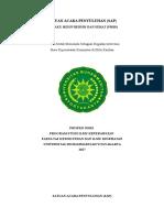 Satuan Acara Penyuluhan (PHBS)