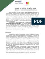 MINUTA ESTUDIO Uso Del Tiempo No Lectivo CPP UC Elige Educar (1)