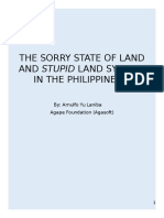 The Sorry State of Land and Land System in the Philippines