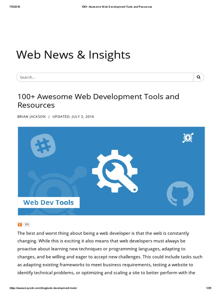 100+ Awesome Web Development Tools and Resources | Java Script ...