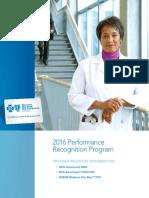 2016 BCN BCBSM Incentive Program Booklet