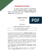 Ementário de Votos - Regime Prisional - 1a. parte