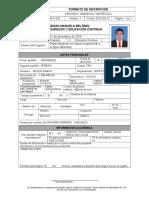 Formato Inscripción Pos - Wilson Hernandez