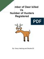 the number of deer hunted essay