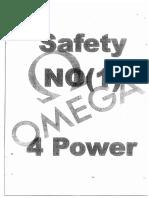 Safety no 1