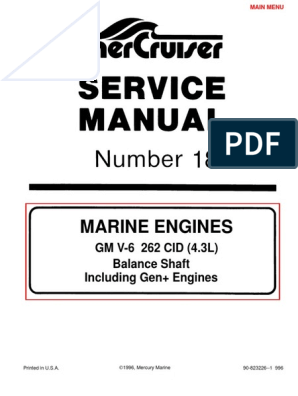 Merc Service Manual 18 4.3 Engines | Fuel Injection | Motor Oil on internet of things diagrams, smart car diagrams, motor diagrams, honda motorcycle repair diagrams, pinout diagrams, engine diagrams, transformer diagrams, battery diagrams, lighting diagrams, switch diagrams, gmc fuse box diagrams, series and parallel circuits diagrams, sincgars radio configurations diagrams, hvac diagrams, friendship bracelet diagrams, led circuit diagrams, electrical diagrams, electronic circuit diagrams, troubleshooting diagrams,