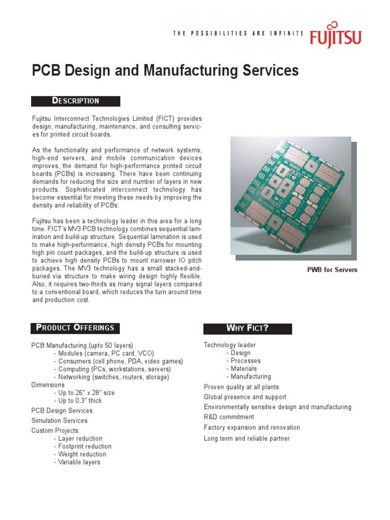 Pcb Data Sheet | Printed Circuit Board | Personal Computers
