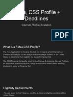 fafsa css profile   deadlines