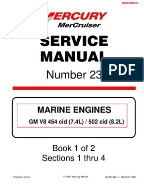 Merc Service Manual 23 454 502 Engines | Internal Combustion Engine