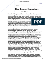 The Ideal Trumpet Embouchure