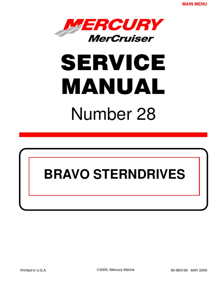 merc service manual 28 bravo stern drives gear ignition system rh scribd com mercruiser bravo 3 maintenance manual mercruiser bravo 3 owners manual
