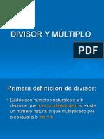 Divisor y Múltiplo - Álgebra