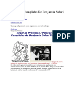 Profecias Cumplidas de Benjamin Solari Parravicini