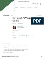 Very Simple ALV in Pop-up Window _ SAP Blogs