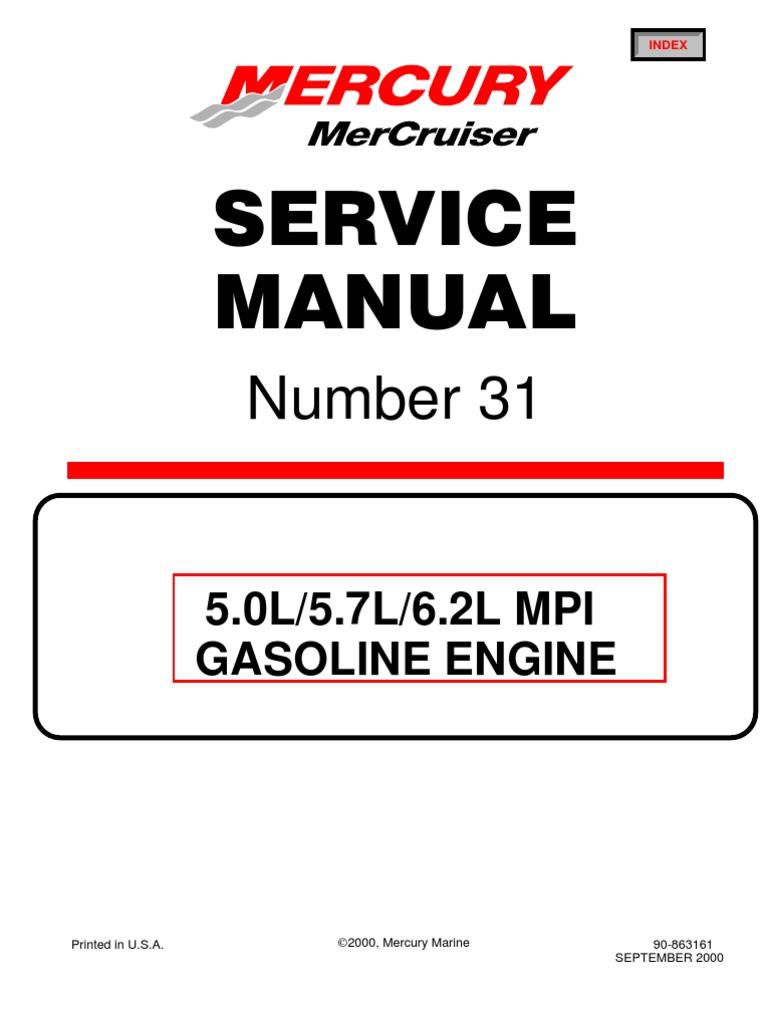 Merc Service Manual 31 | Distributor | Piston