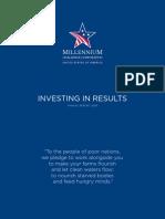 Millenium Challenge Corporation US Report 2009