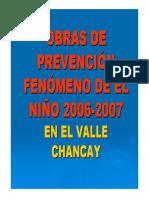 Obras de Prevencion Fenomeno Del Niño - Valle Chancay