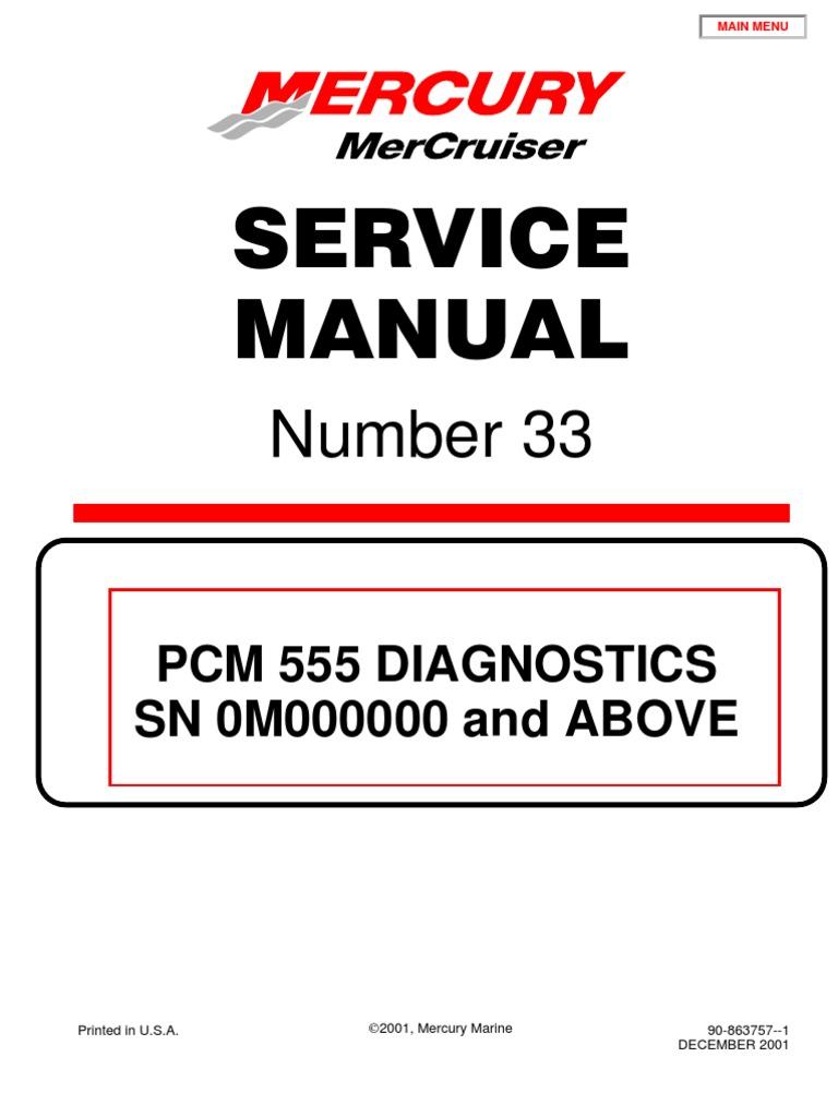 Merc Service Manual 33 Big Block Diagnostics | Ignition System ...