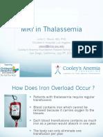MRI in Thalassemia