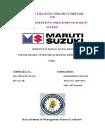 Marketing Strategy of Maruti Suzuki- Ramabharat Prasad