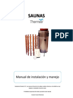 Manual Sauna Thermes