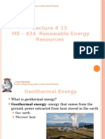 Renewable Energy Resources - Lecture 13