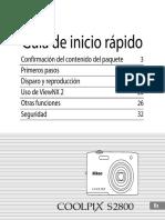 Nikon Guia de Inicio Rapido s2800 Español