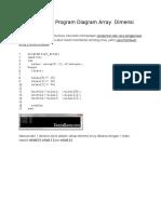 Cara Membuat Program Diagram Array Dimensi Pascal
