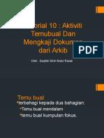 Tutorial 10 - Saqifah Razak