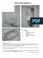 Fermax Loft 3399 _Universal_ Intercom Handset Data Sheet
