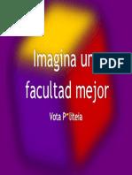 Cartel púrpura elecciones