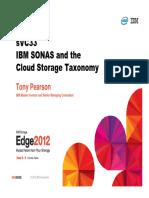 IBM SONAS and Cloud Storage