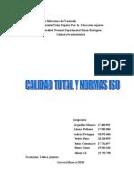 CALIDAD TOTAL Y NORMAS ISO
