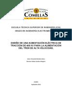 Diseño Subestacion electrica de traccion 400 kV para tren de Alta velocidad (AVE)