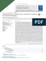 ADN ambiental - una herramienta emergente en la conservación de monitoreo pasado y presente de la biodiversidad