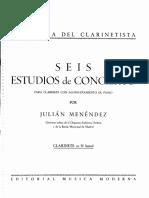 Menendez - 6 Estudios de Concierto Para Clarinete y Piano (Parte de Clarinete)